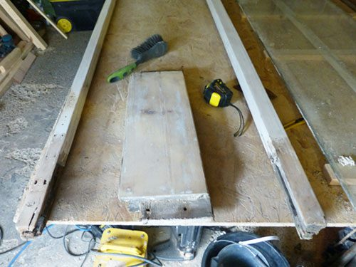Restoring a french door by dismantling the door and re-fitting a bottom rail in the workshop facility in Hove East Sussex