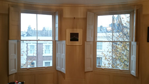 completed sash window refurbishment and restoration Hove